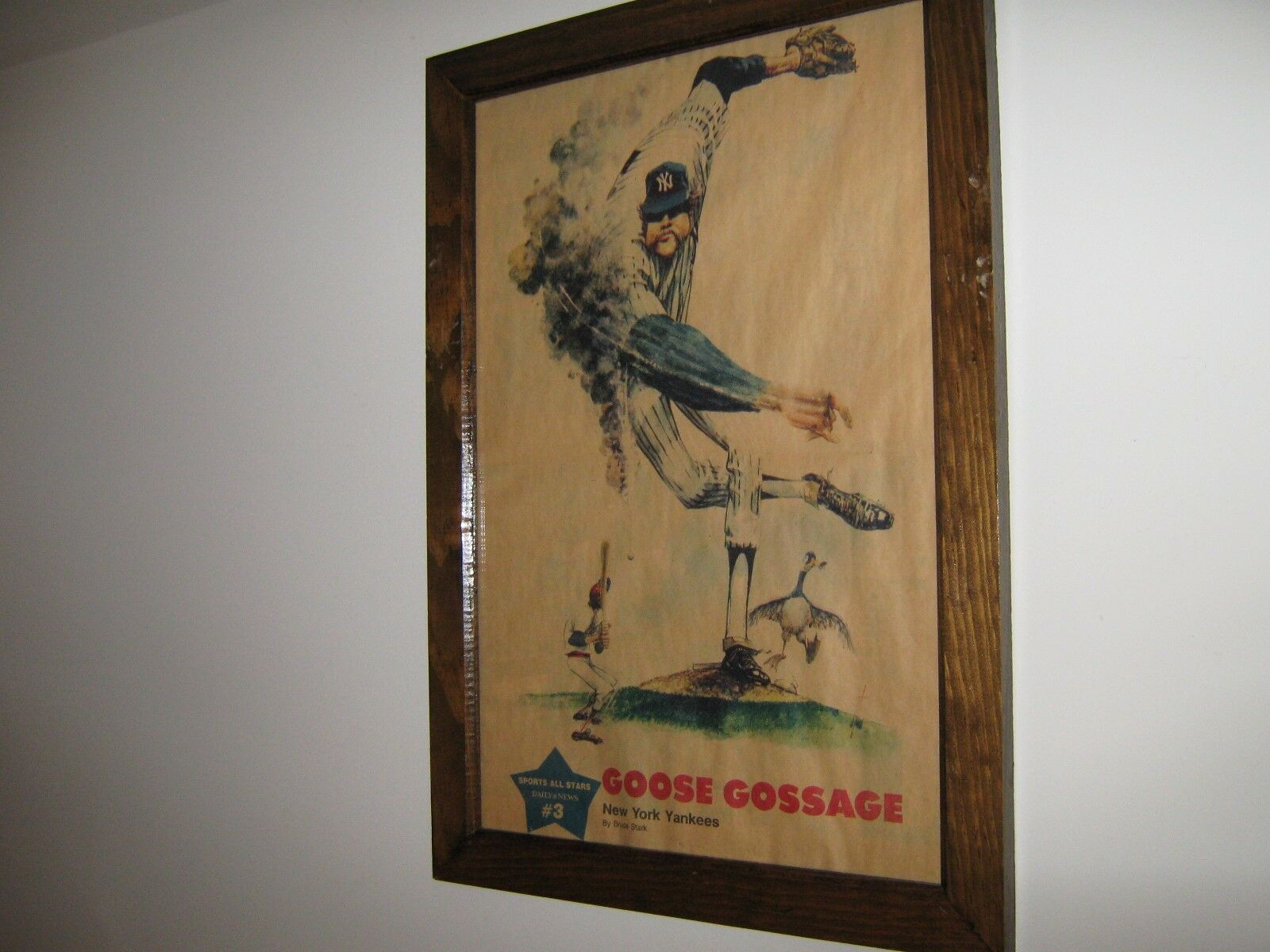 GOOSE GOSSAGE ,Framed Comic Poster , Ready to Hang ,198