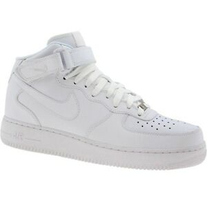 315123 111 Hombres Air Nike Air Hombres Force 1 07 Mid Blanco  Blanco Ebay 88ddd7