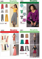 Lot Of 4 Simplicity Creative Patterns -1a15 141h
