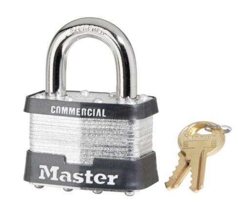 "Master Lock Padlock 5KA 2/"" COMMERCIAL Padlock w// Choice of Keys"