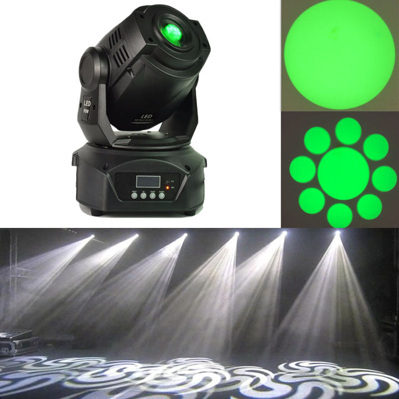 2pcs 90W LED spot moving head light gobos double prism for dj stage
