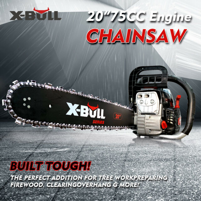 "X-BULL75cc Chainsaw 20"" Bar Petrol Commercial E-Start Pruning Chain Saw"