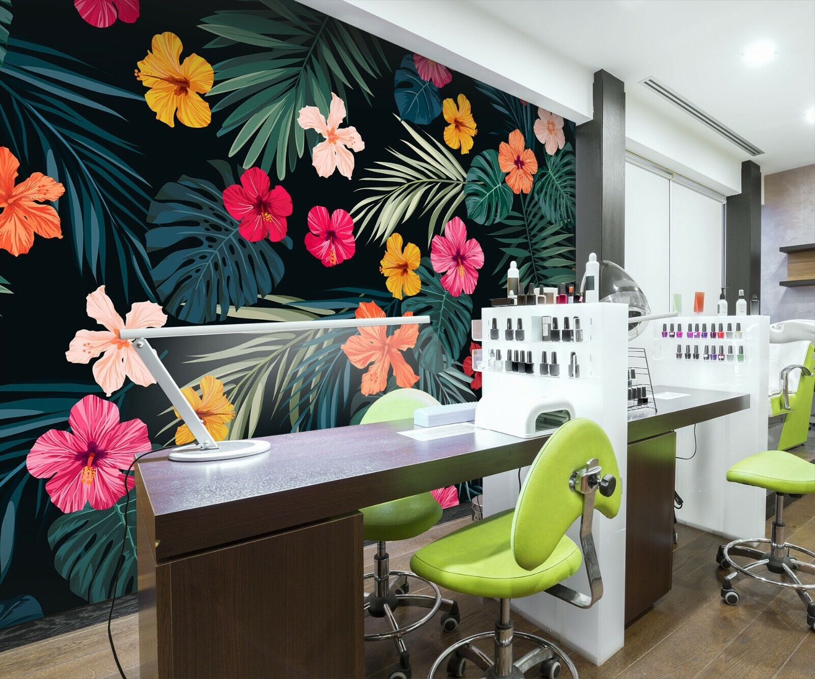 3D Flower Plant N367 Business Wallpaper Wall Mural Self-adhesive Commerce Amy