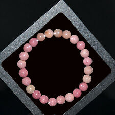Men/Women Rhodochrosite Beaded Bracelet Gemstone Stretch Natural Stone Bracelets
