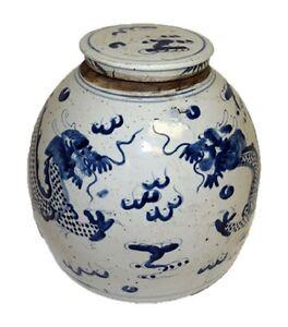 Vintage-Style-Blue-and-White-Porcelain-Lidded-Ginger-Jar-Dragon-Motif-11-034