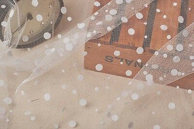 0.5yard ivory spot veil ,white mesh lace fabric,Point Dotted Tulle Dot NETTING