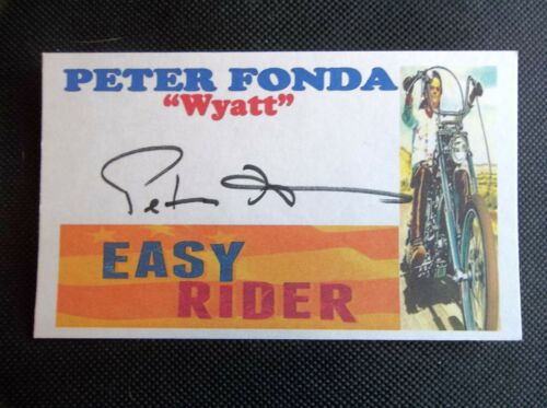"""Easy Rider"" Peter Fonda ""Wyatt"" Autographed 3x5 Index Card"