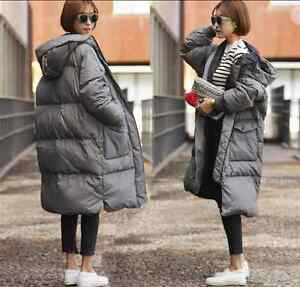 Women-039-s-Loose-Down-Cotton-Long-Coat-Parka-Jacket-Outdoor-Trench-Padded-Outwear