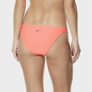 Nike Swim Women's Ribbed Swoosh Logo Solid Bikini Bottom  XL  Save 50%!!!  Pink