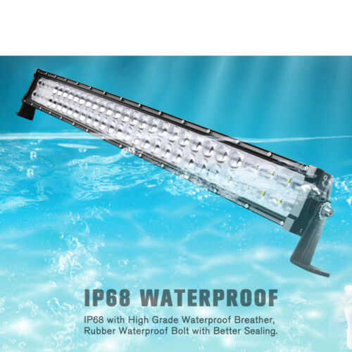 42inch 560W Curved 9D LED Light Bar Spot Flood Offroad Driving Truck 4WD Boat 40