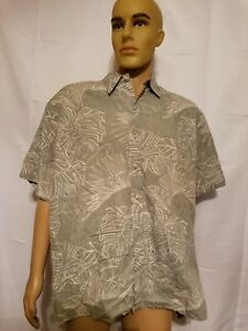Cooke-Street-Reverse-Print-Hawaiian-Shirt-Hawaii-Aloha-Made-In-USA-Mens-XL-Green