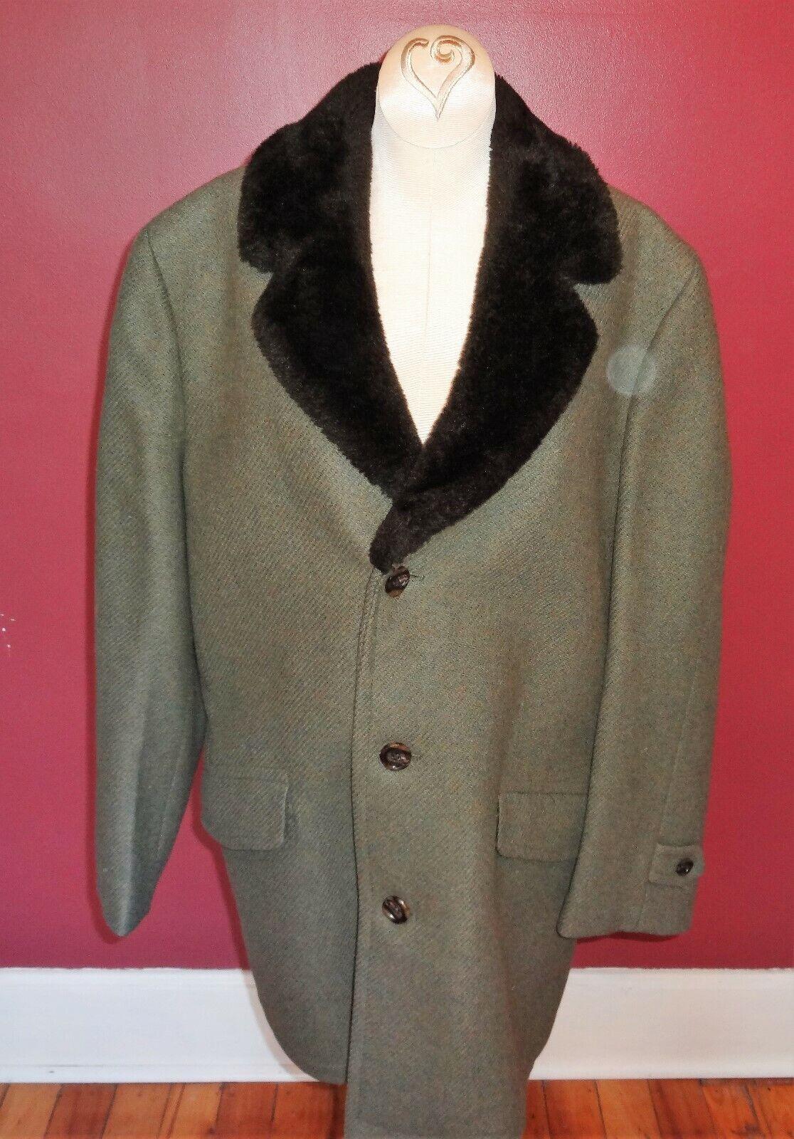 Vintage Oakbrook Sportswear Sears Mens 38 Regular Dress Winter Coat Knee Length