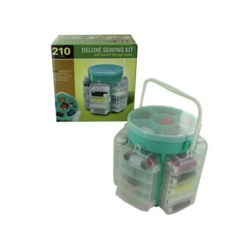 Deluxe Sewing Kit With Custom Storage Caddy 1Pc
