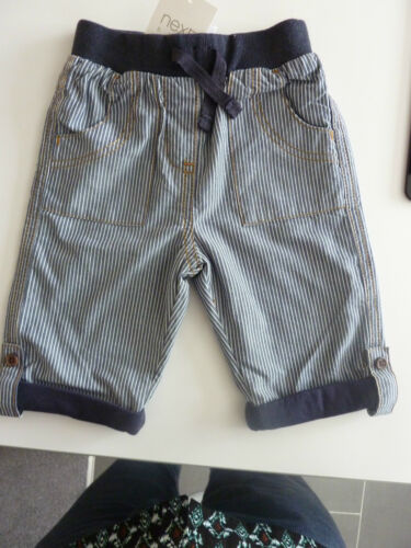 NEXT Gorgeous Little Boys Navy Striped Trousers Size 0-3 Months NWT