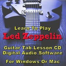 LED ZEPPELIN Guitar Tab Lesson CD Software - 99 Songs