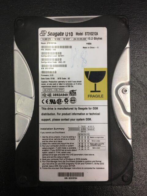 """Seagate U10 10.2GB 5400RPM 3.5"""" (ST310212A) HDD"""