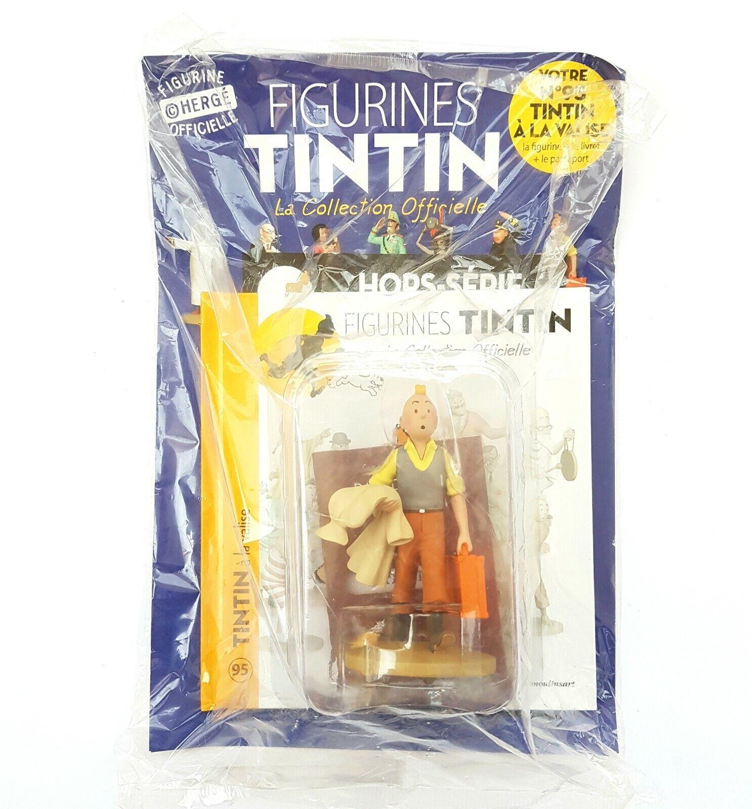 FIGURINE Sammlung OFFICIELLE TINTIN N95 TINTIN A LA VALISE LIVRET PASSEPORT