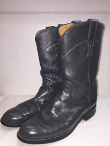 b48e2ae2785 Details about Justin Roper Cora Women's Western Cowboy Boots Black Leather  6 B