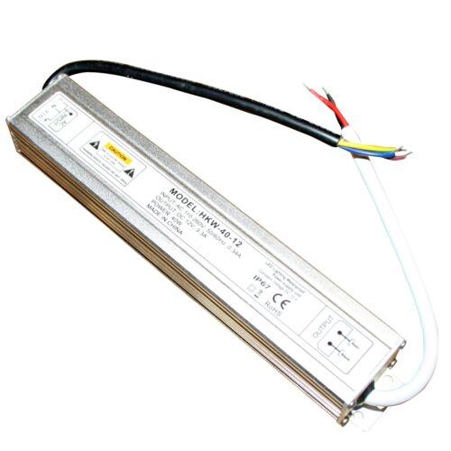 12 V DC DEL Alimentation Alimentation Travo Transformateur étanche IP 67 Stripe