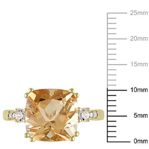 10k Yellow Gold Multi-gemstone and Diamond Accent Ring