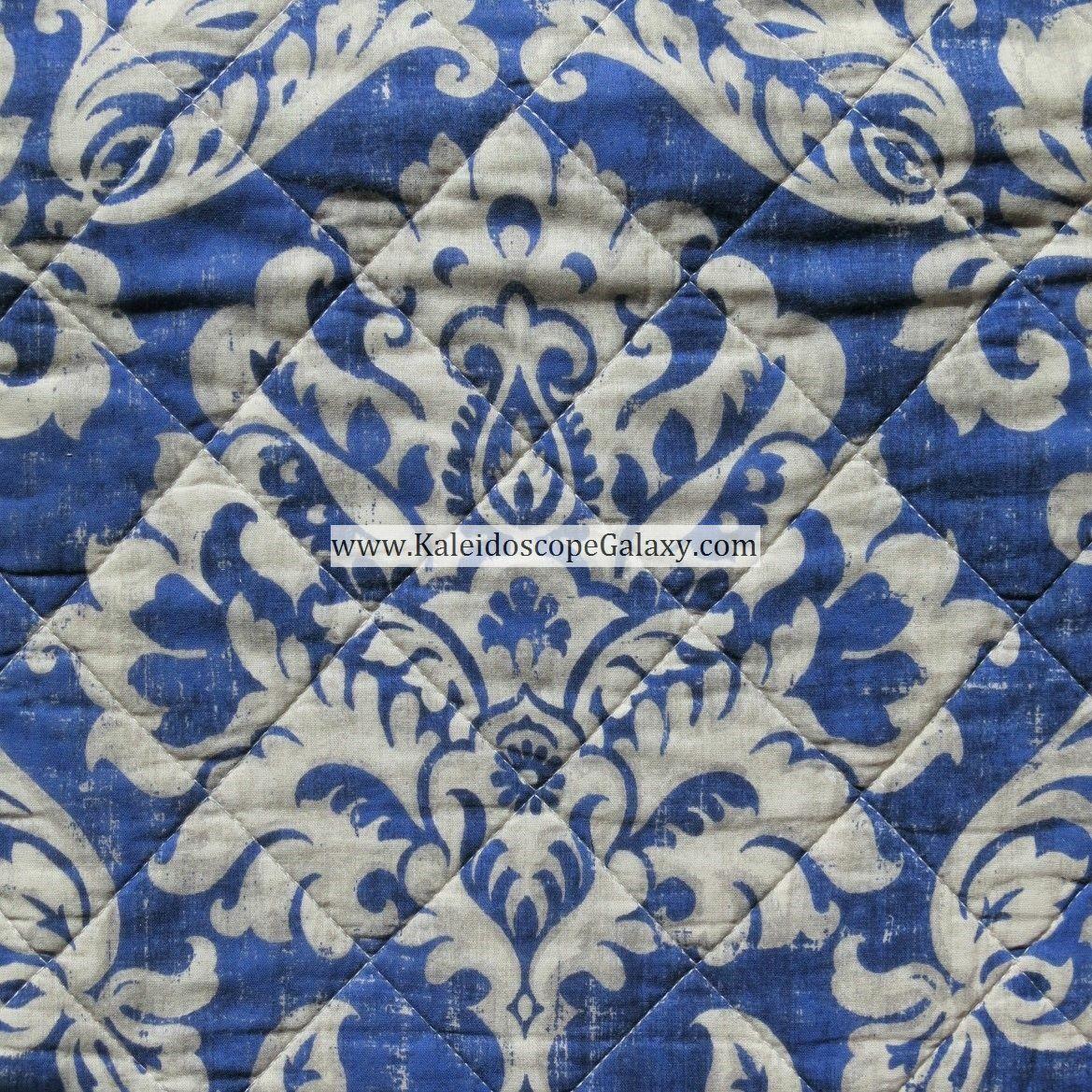 Blau BEIGE TAN 3pc KING QUILT FLORAL DAMASK MEDALLION REVERSIBLE STRIPE TAHARI