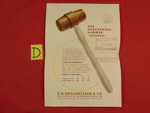 Antiquitäten & Kunst 1958 Ca.21x15cm. 100% Wahr Der Hartgewebe-hammer C.h.morgenstern & Co