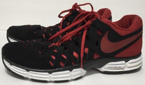 para de Lunar o tama hombre Zapatos correr Fingertrap negro y entrenamiento Tr Nike rojo para 12 wdn8fqH