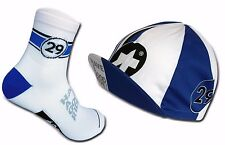 Cycling Socks & Cycling Cap ASSOS CLASSIC Set Royal Blue/White US 9.5-12