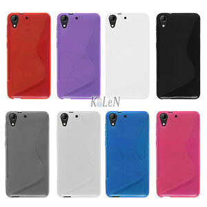 the best attitude f4ee7 a407b Details about Rubber S-Style Soft Gel TPU Silicone Case Skin Cover For HTC  Desire 728 Dual Sim
