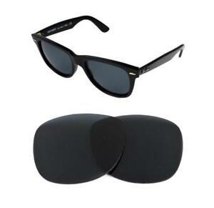 9b43310d6aef38 NEW POLARIZED REPLACEMENT BLACK LENS FIT RAY BAN WAYFARER 2140 50mm ...