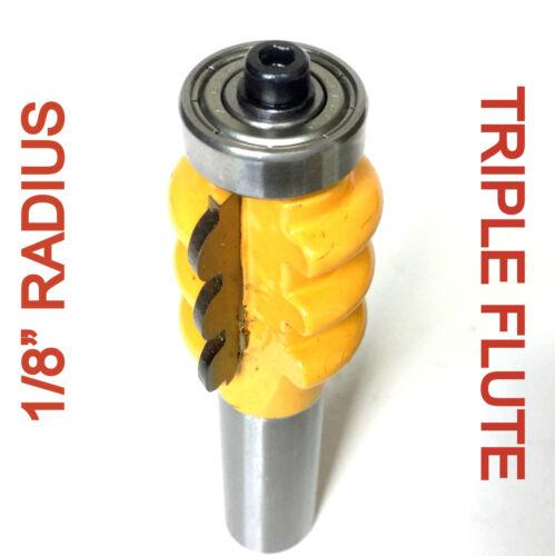 "1 pc 1//2/"" Shank with 1//8/"" Radius Triple Flute Router Bit sct-888"