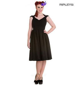 Hell-Bunny-Pin-Up-Summer-50s-Dress-Vintage-Rockabilly-EVELINE-Black-All-Sizes