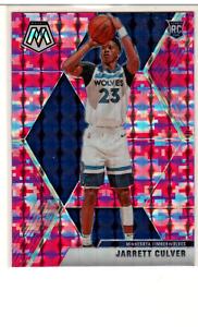 2019-20 Panini Mosaic Camo Pink Rookie Prizm Jarrett Culver Timberwolves RC #201