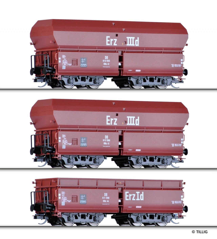TT beni Wagenset erzzug 1 3 pezzi DB Ep. III Tillig 01710 NUOVO