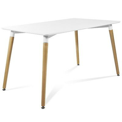Mesa rectangular MREC-140x90  color blanco McHaus cocina comedor salon madera