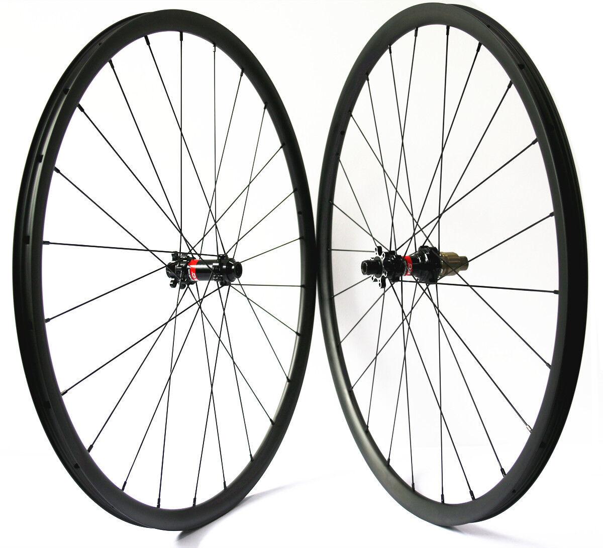 29er MTB carbon wheels 24mm mountain bike gravel wheelset Novatec D411 412 hub