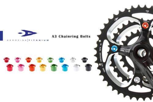 Aerozine A3 Road MTB Bicycle Bike Chainring Bolts M8 for Shimano Triple Silver