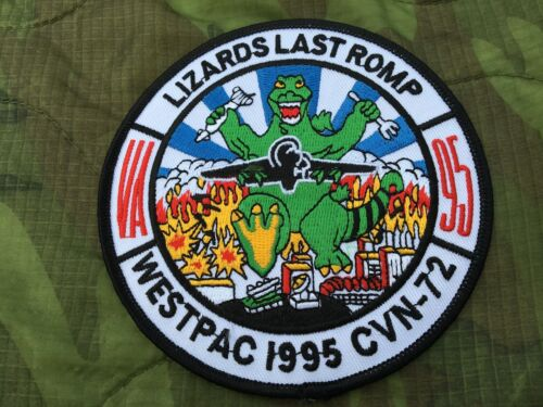 LIZARDS LAST ROMP VA 95 WESTPAC 1995 CVN-72 PATCH