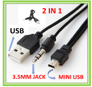 3.5mm Jack to Mini USB Standard Audio Jack Connection Cable for ...