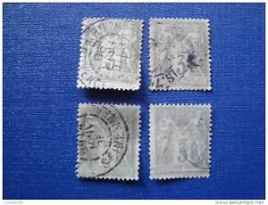 FRANCE-timbre-stamp-yt-n-87-x4-obl-T