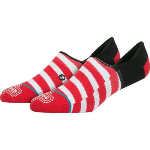 $15 Stance x Allen Iverson Men Candystripe Invisible Socks red