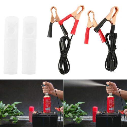 DIY Car Fuel Injector Flush Cleaner Adapter Kit Cleaning Tool with 2* Nozzle Hot