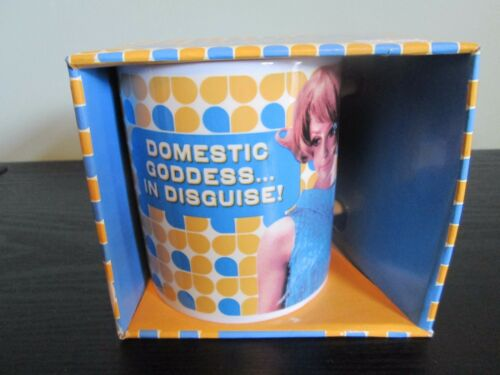 LADIES RETRO HUMOUR NOVELTY MUGS.DOMESTIC GODDESS//MOTHER//SHOES//COFFEE RRP £9.99