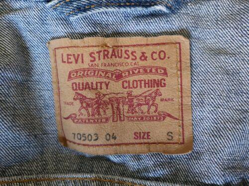 Gravure Pierre Label 70503 Nouveau Rouge Petit Véritable Trucker Levis Jacket Denim De wfn4ABxtXq