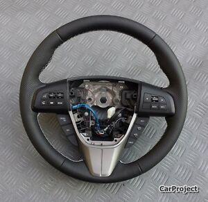 Volante-Para-Mazda-3-y-6-ANO-FAB-2008-2010-con-daumenwulsten-y-Blanco-Costura