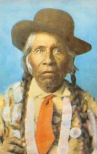 Shay-Now-Ish-Kung-Chief-Bemidji-Native-American-Indian-ca-1950s-Vintage-Postcard