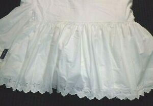 Ralph Lauren QUEEN Bed Skirt Dust Ruffle Patience White Eyelet **damage**