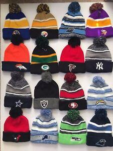 POM POM BEANIES Logo Sport Football TEAM SKI Cap KNIT Hat Winter ... 7b8a058e5ea