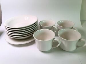 Vintage Set of 12 Federalist Ironstone White 4238 Coffee Cups Bowl Made in Japan