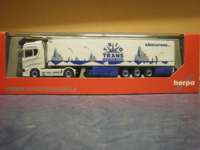 refrigeración-ksz Trio trans 308052 Herpa camiones scania CS 20 topl//aerop